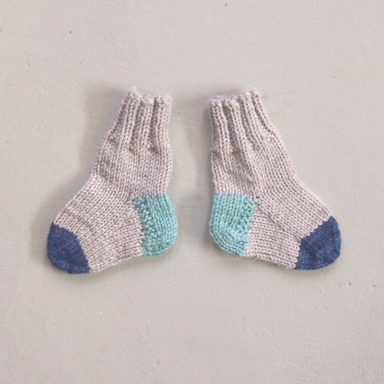 Image of SOCKS - Natural / Mint / Navy