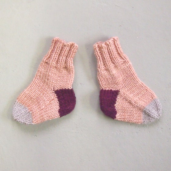 Image of SOCKS - Coral / Plum / Natural