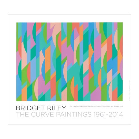 Image of Bridget Riley-The Curve Paintings 1961-2014: Lagoon poster