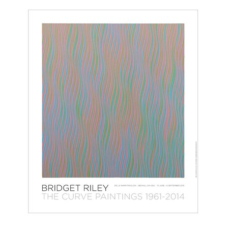Image of Bridget Riley-The Curve Paintings 1961-2014: Andante poster