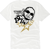 "Image of KY Raised ""Legends Series"" Static Major Tee in White / Blk / Gold"