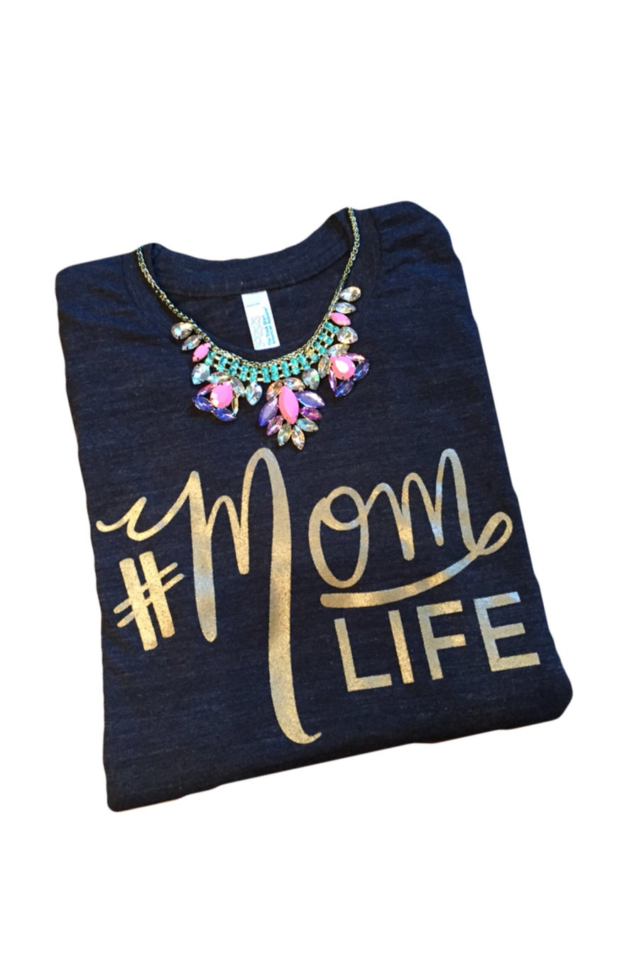 Image of The Original #MOMLIFE Tri-Black Tee