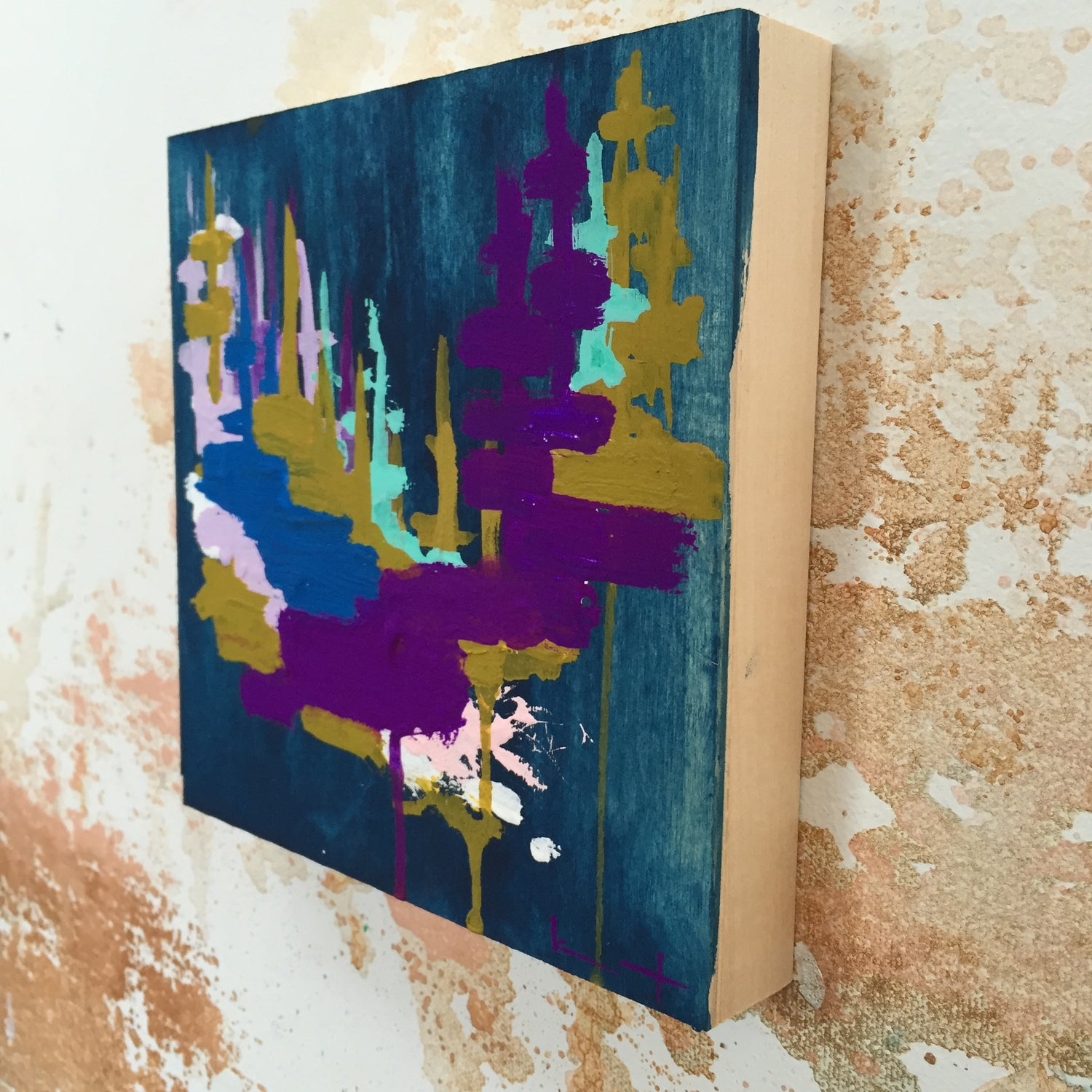 Image of Tiny Painting No. 28 (night navy, deep violet,