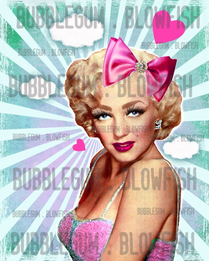 Image of Marilyn Monroe with sunrays Digital Art Download
