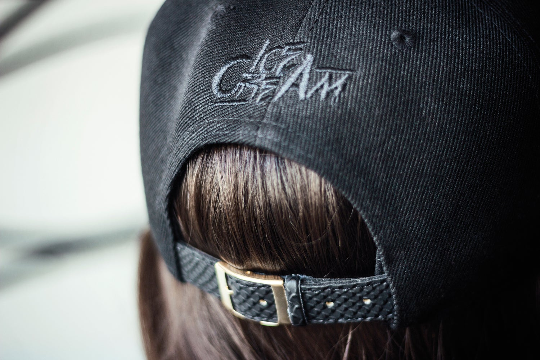 Image of BLACK ON BLACK - ICE CREAM X-Anniversary Cap