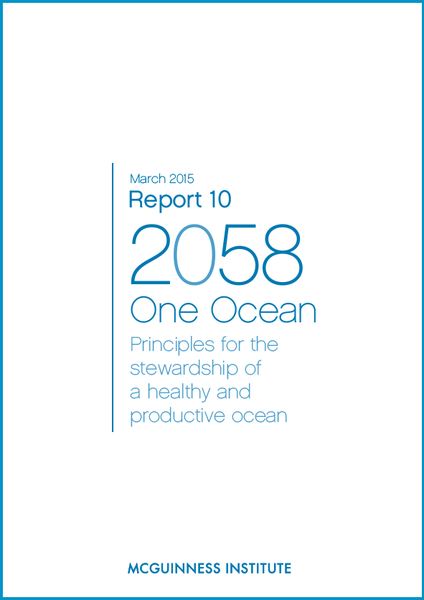 Image of 2015 Report 10 - One Ocean: Principles for the stewardship of a healthy and productive ocean