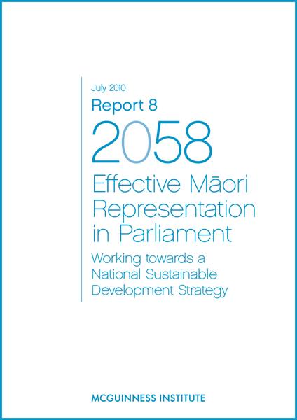 Image of Report 8 – Effective Maori Representation in Parliament