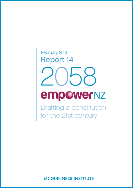 Image of 2013 Report 14 - EmpowerNZ: Drafting a constitution for the 21st century
