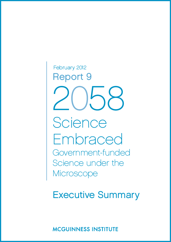 Image of Executive Summary: Report 9 - Science Embraced: Government-funded science under the microscope