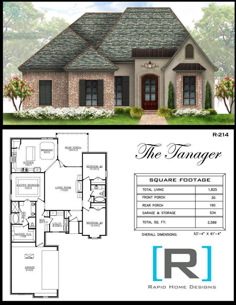 The tanager 1825sf rapid home designs for Rapid home designs