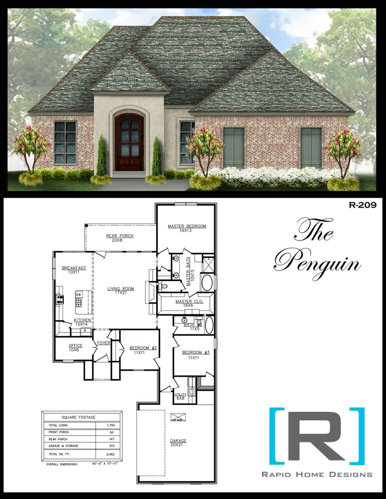 The Penguin 1750sf Rapid Home Designs