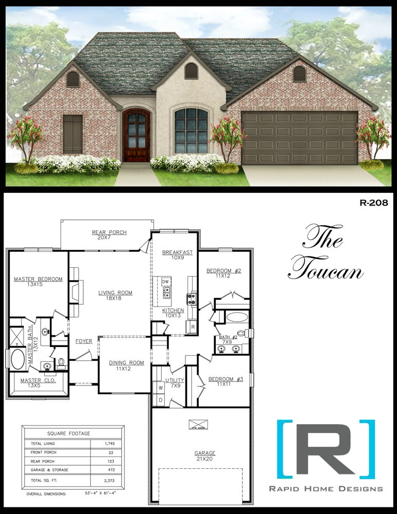 The toucan 1745sf rapid home designs for Rapid home designs