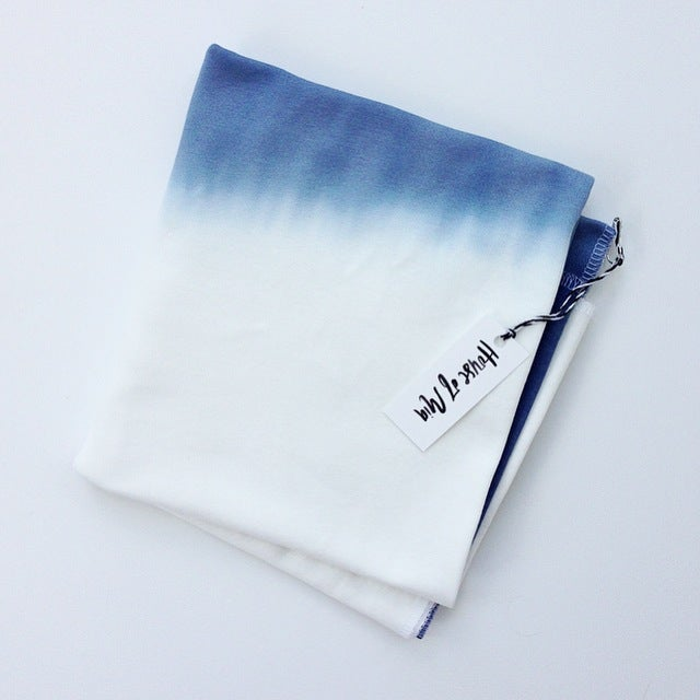 Image of ORganic cotton Dip-dyed blanket