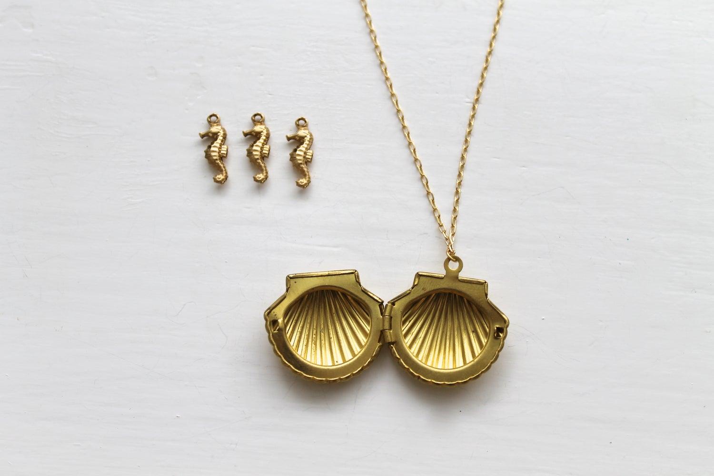 Image of Seashell Locket Necklace