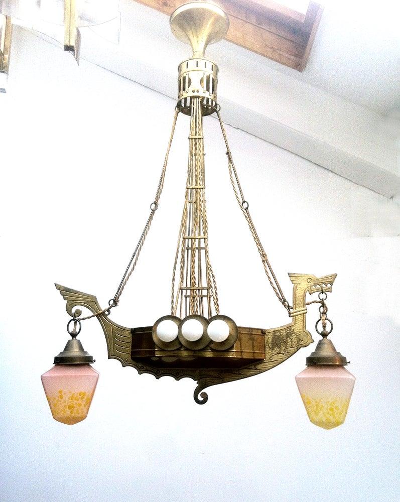 Image of Art Nouveau Chandelier