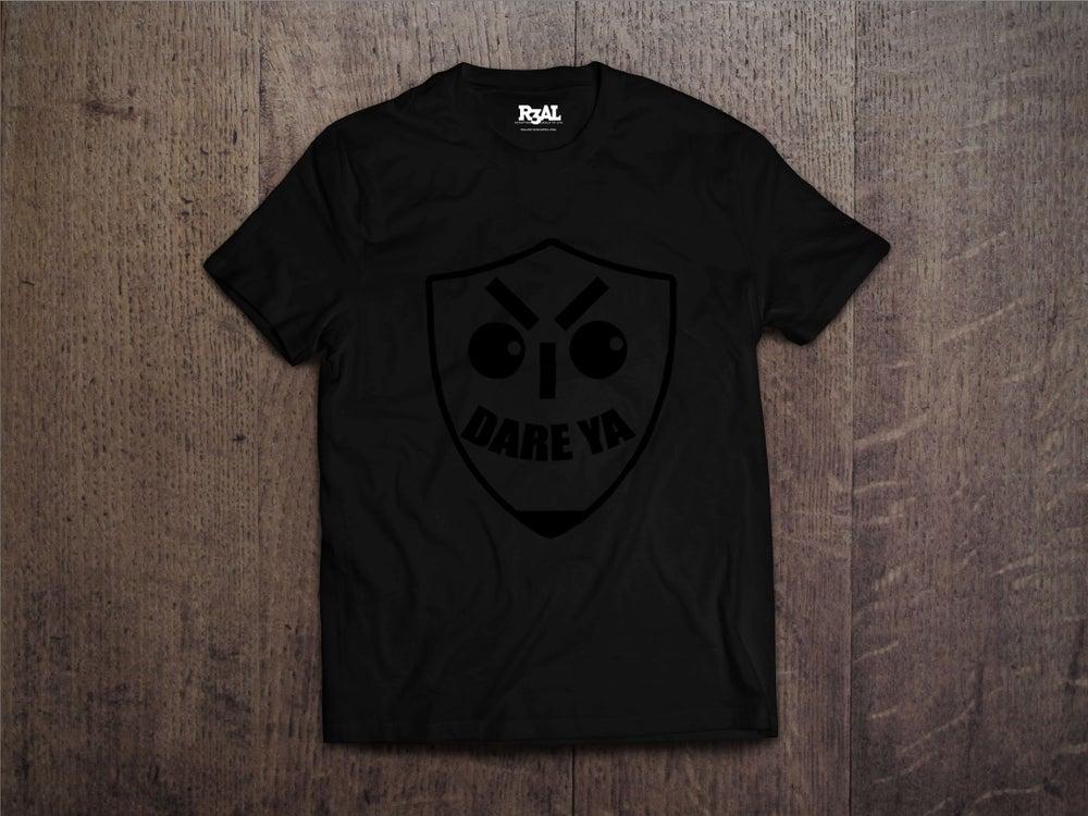 Image of I Dare Ya T-Shirt (Black/Black Font)