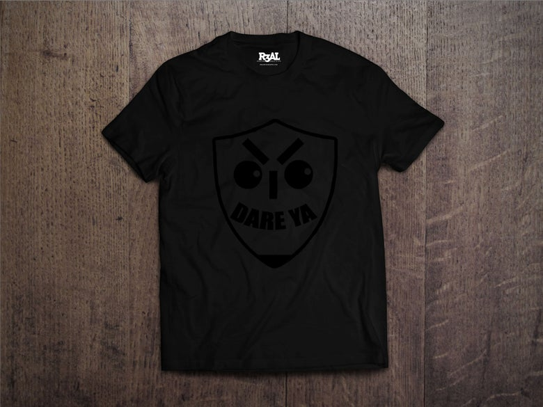 Image of I Dare Ya T-Shirt (Black/Black Font)