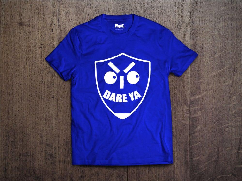 Image of I Dare Ya T-Shirt (Blue/White Font)