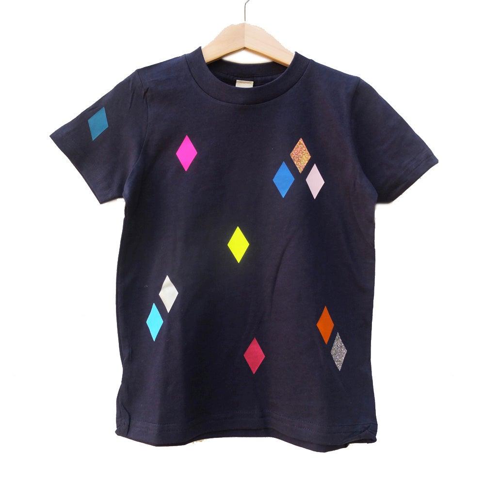 Image of T-Shirt Diamonds navy