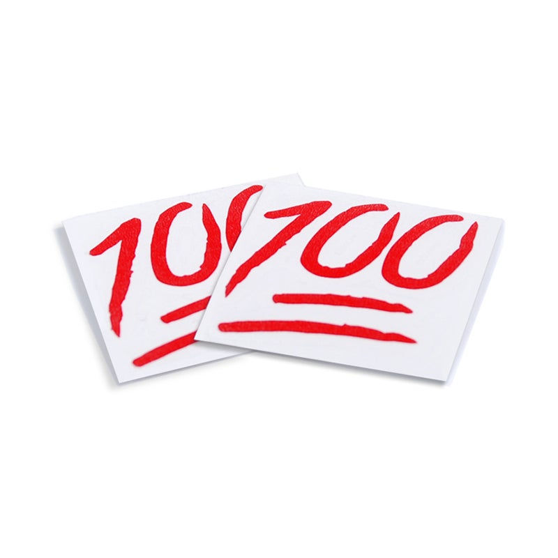 Image of 100 Red Decal (2)