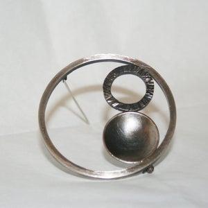 Image of Slate Hoops Brooch