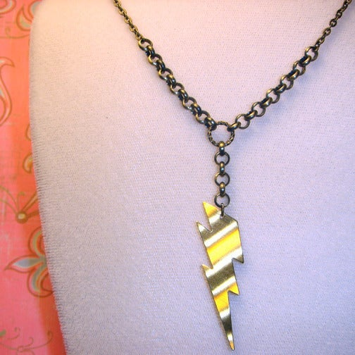 Image of Golden Lightning Necklace
