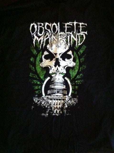 Image of Obsolete Mankind 'Skull' T-shirt