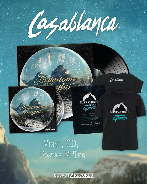Image of Casablanca - Miskatonic Graffiti [CD/2xLP/poster/T-shirt]
