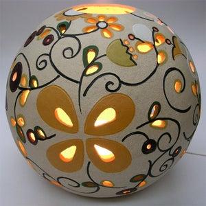 Image of candeeiro bola medio flores