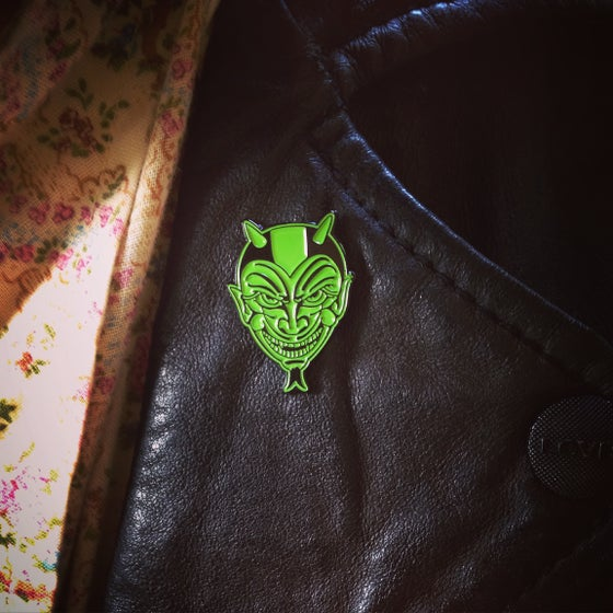 Image of Devil logo lapel pin LIMITED**