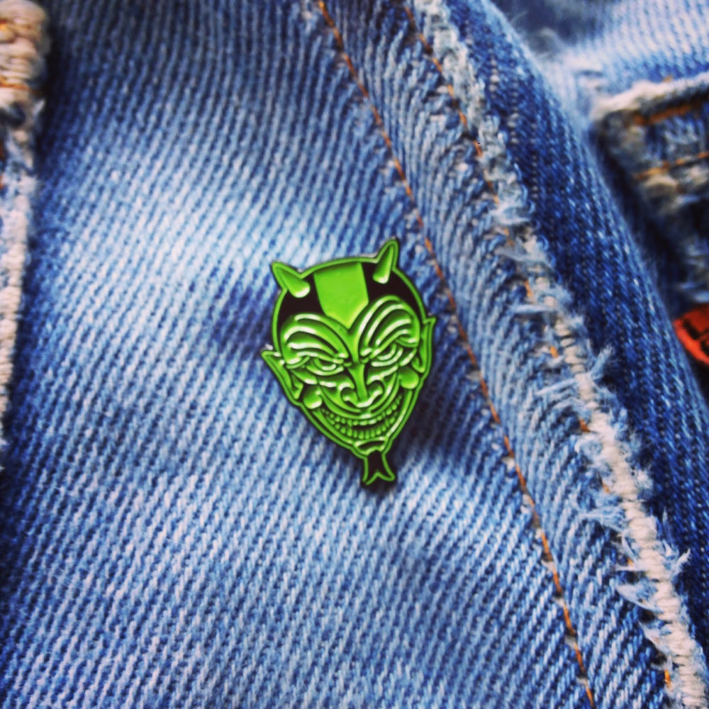 Image of Devil logo lapel pin LIMITED**