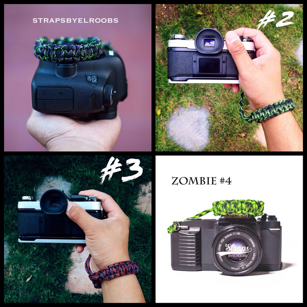 Image of Zombie edition 1,2,3,4 camera wrist straps