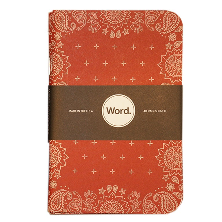 Image of Word. Notebooks - Bandana Limited Edition