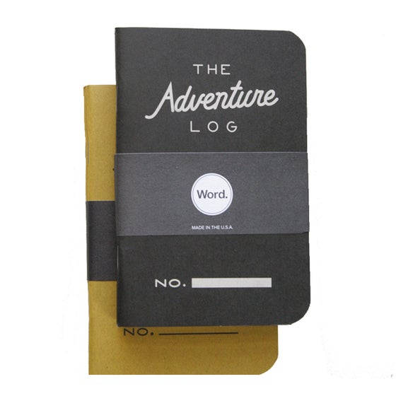 Image of Word. Notebooks - Adventure Log