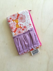 Image of Pink Meadow medium zip pouch