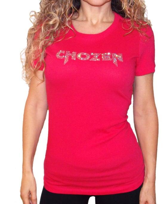 Image of CHOZEN RHINESTONE TEE (pink)