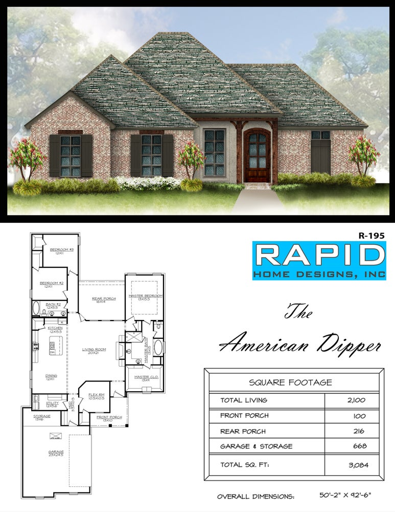 The american dipper 2100sf rapid home designs for Rapid home designs