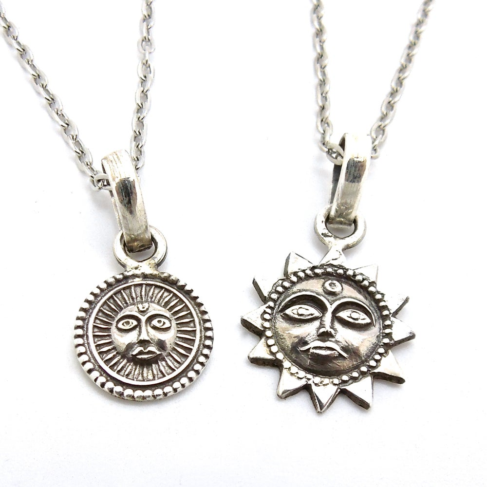 Image of Silver Sun Sun Goddess Necklaces