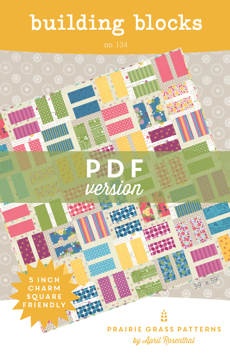 Image of Building Blocks: PDF Quilting Pattern #134
