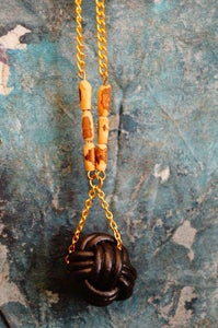 Image of Knot Necklace in Black