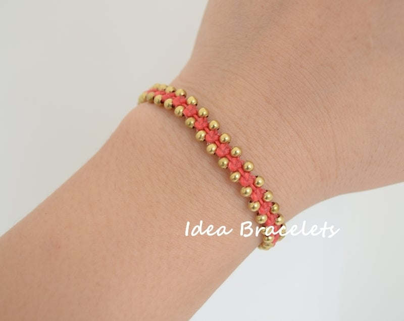 Image of Elephant Simple Friendship Bracelet Gift Idea - Brass Red