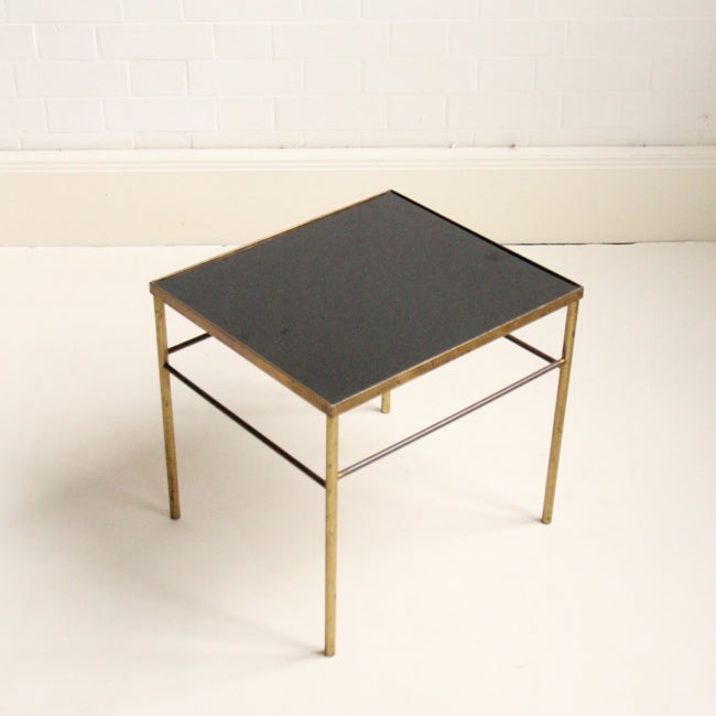 Image of Small brass side table