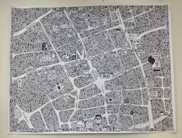Image of Northern Quarter Doodle Map