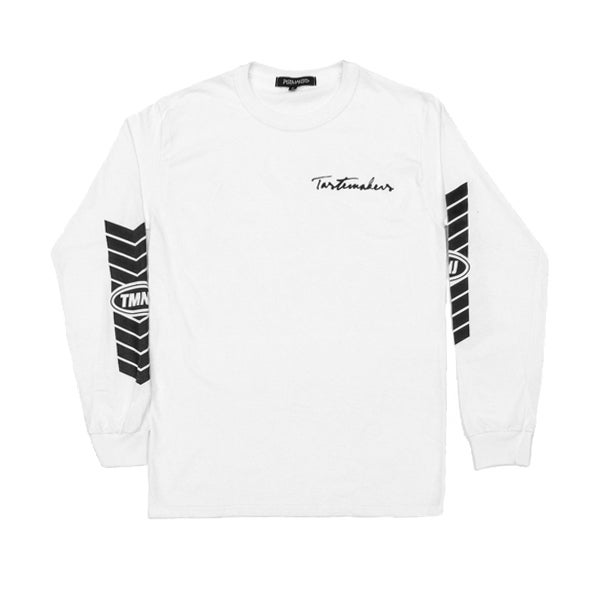 Image of Racer Long Sleeve Tee (White)