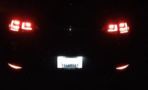 Image of License Plate LED Complete Housing Fits: MKVII 2015+ Volkswagen Golf/GTI Sportwagen (GSW)