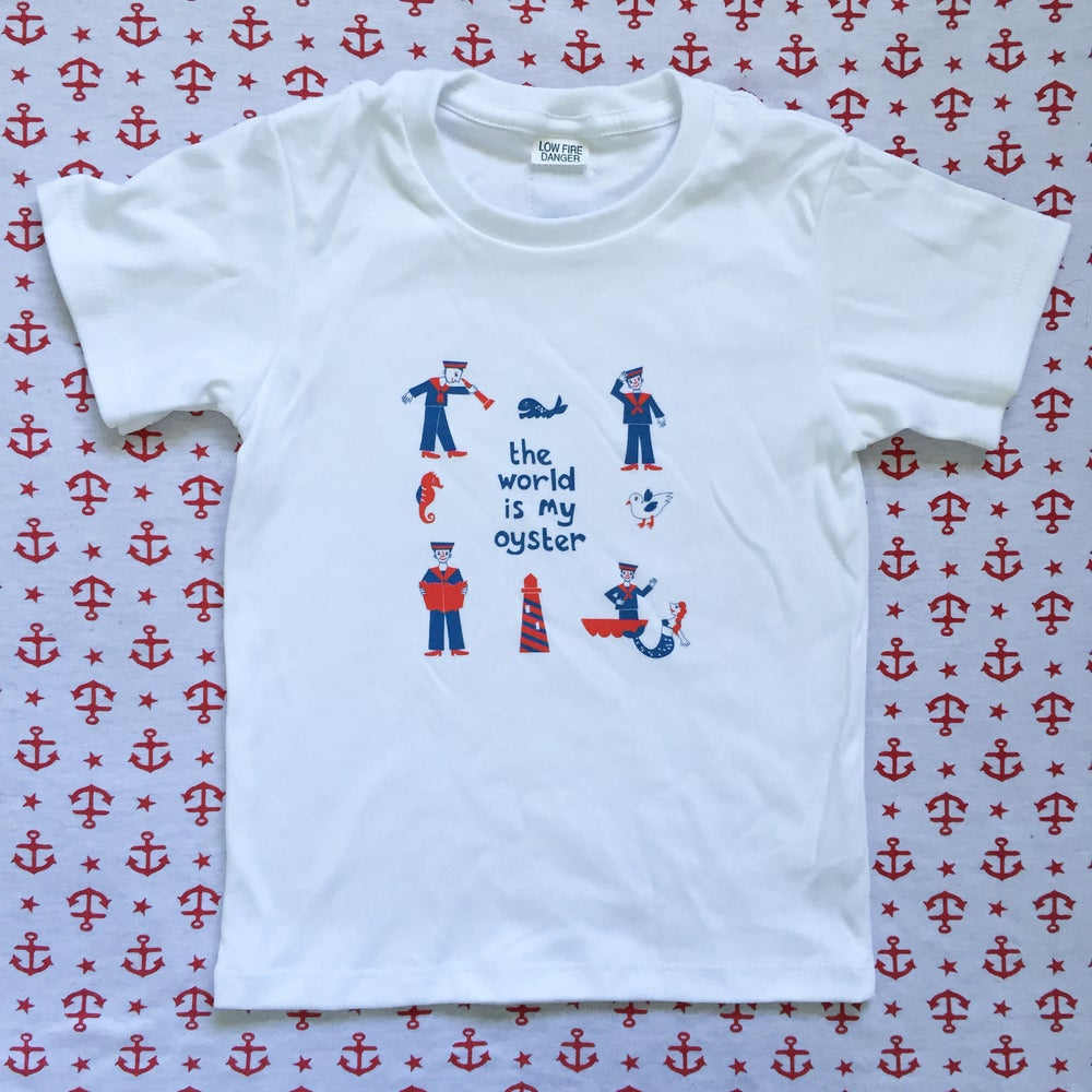 Image of The world is my oyster tee 1-3