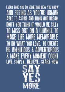 Image of SayYesMore Manifesto Poster