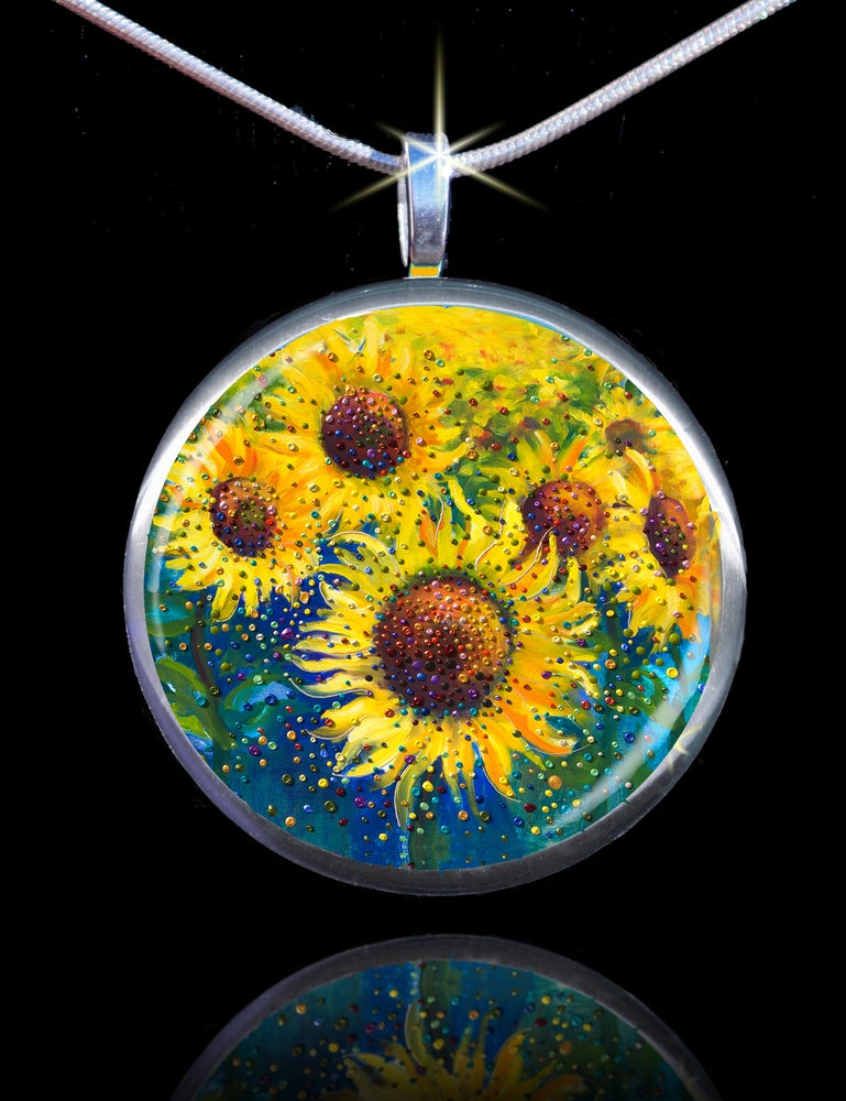 Image of Sunflower Life-Joy Energy Pendant - Feel happy today