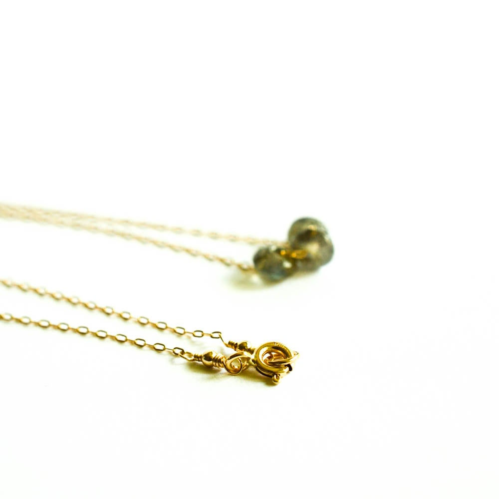 Image of Labradorite Trio Necklace
