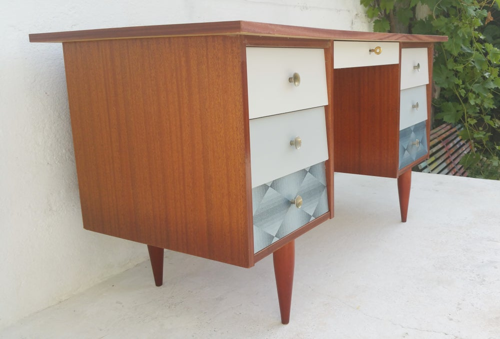 bureau style scandinave vintage bureau customis style scandinave fibresendeco. Black Bedroom Furniture Sets. Home Design Ideas